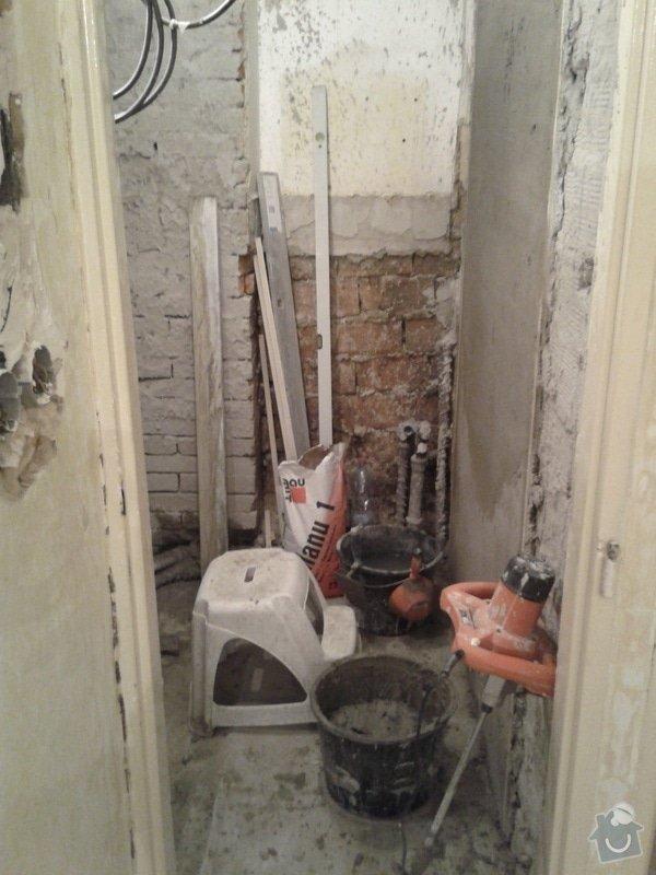 Rekonstrukce koupelny,WC,předsíně: 20130425_135738