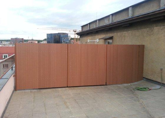 Demontáž a montáž plotu na terase