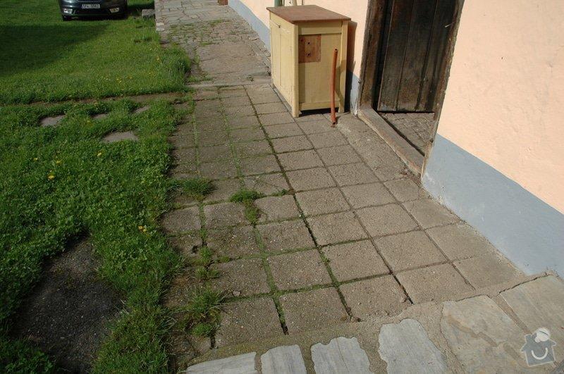 Pokládka kamenné dlažby a oprava kamenných zdí: 1