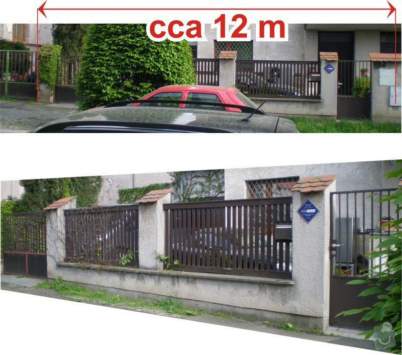 Rekonstrukce oplocení: plot