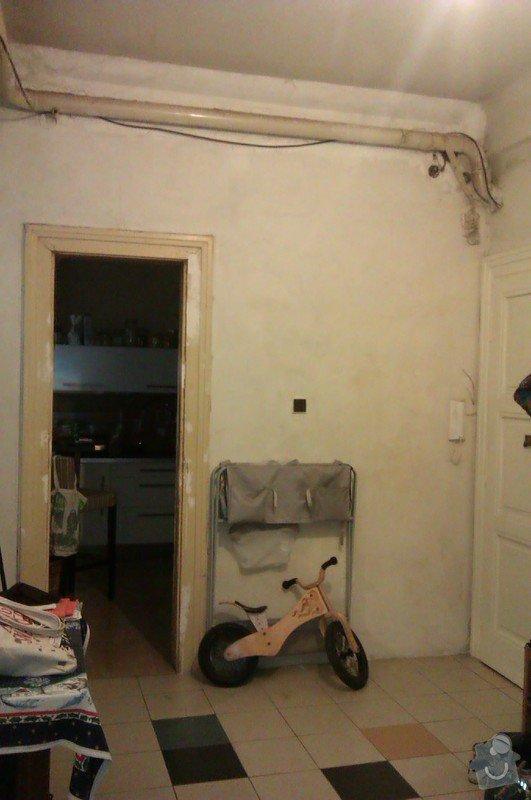 Štukování chodby a wc + snížení stropu v chodbě: IMAG1049