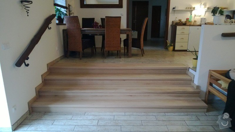 Obložení betonového schodiště dřevem: WP_20130502_006