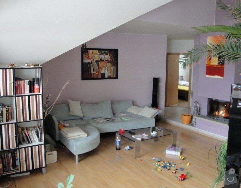 Návrh interieru obývacího pokoje s jídelním koutem a návrh zádveří: 004