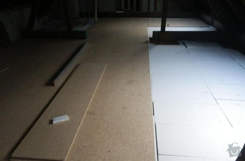 Vyrovnání podkladu deskami MFP v podkroví: P2160707_Large_