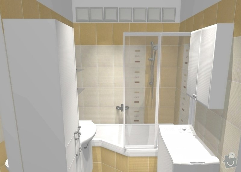 Rekonstrukce bytového jádra v Žabovřeskách: 002_var2_pohled3