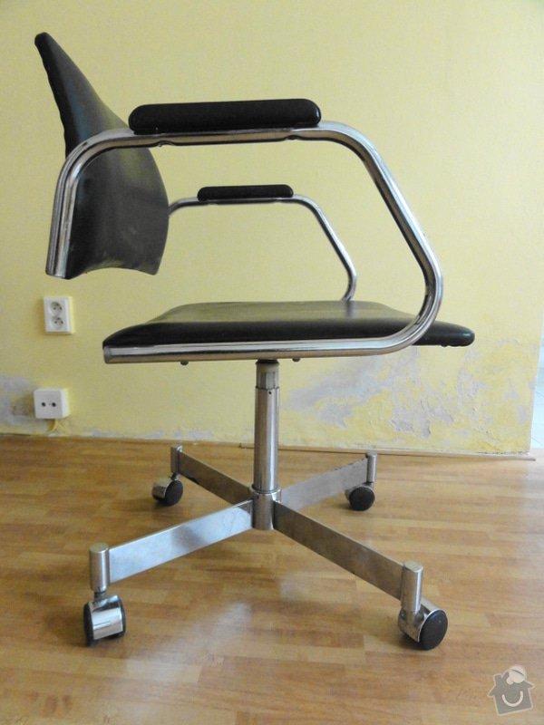 Čalounění židle: m_zidle_na_koleckach_1_