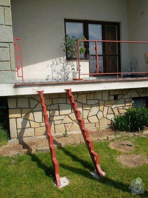 2xoprava balkonového zábradlí + schody z terasy: SAM_2835