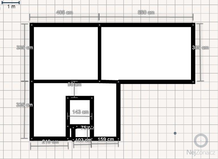 Rekonstrukce panelového bytu v Praze: Planek_bytu