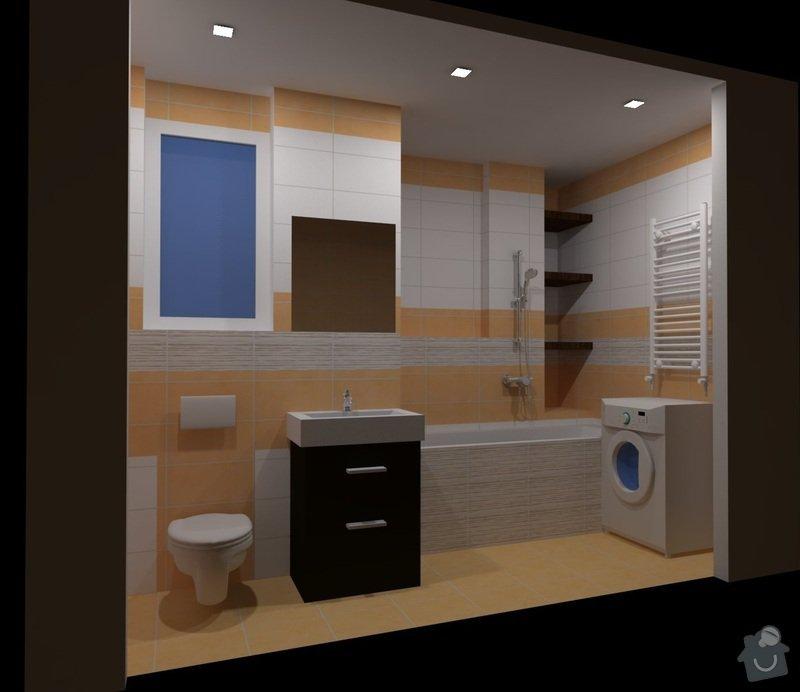 Rekonstrukce koupeny: koupelnaX3