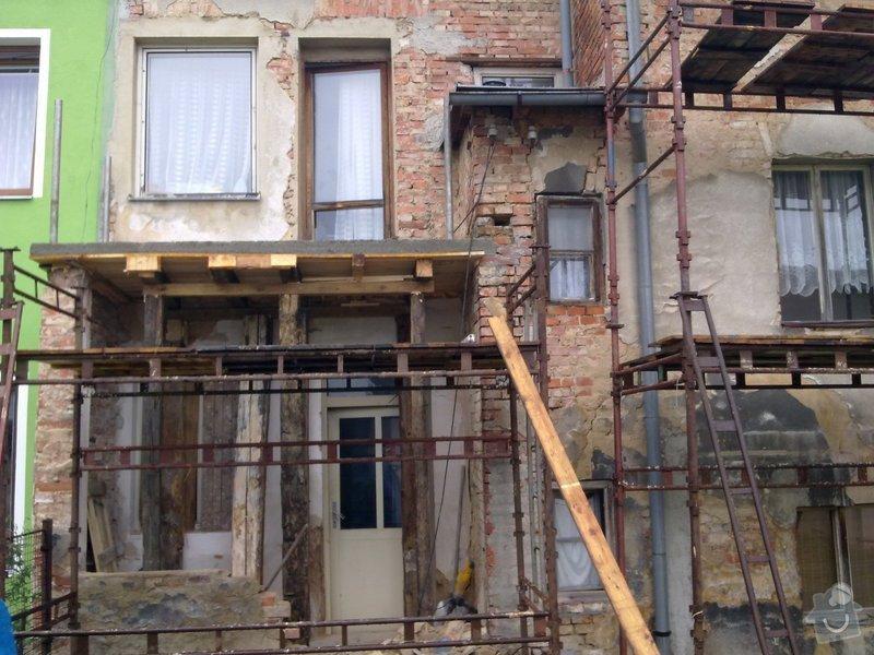 Rekonstrukce balkonu a fasády: 07012010047