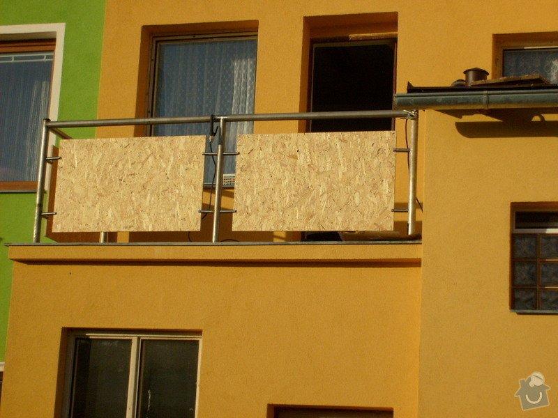 Rekonstrukce balkonu a fasády: S6301811