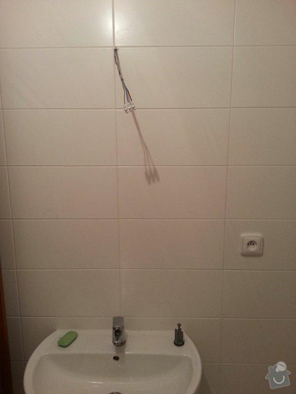 Montáž osvětlení + instalace koupelnových doplňků.: koupelna