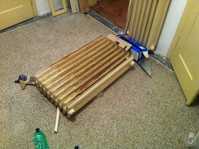 Renovace litinovych radiatorů: radiator