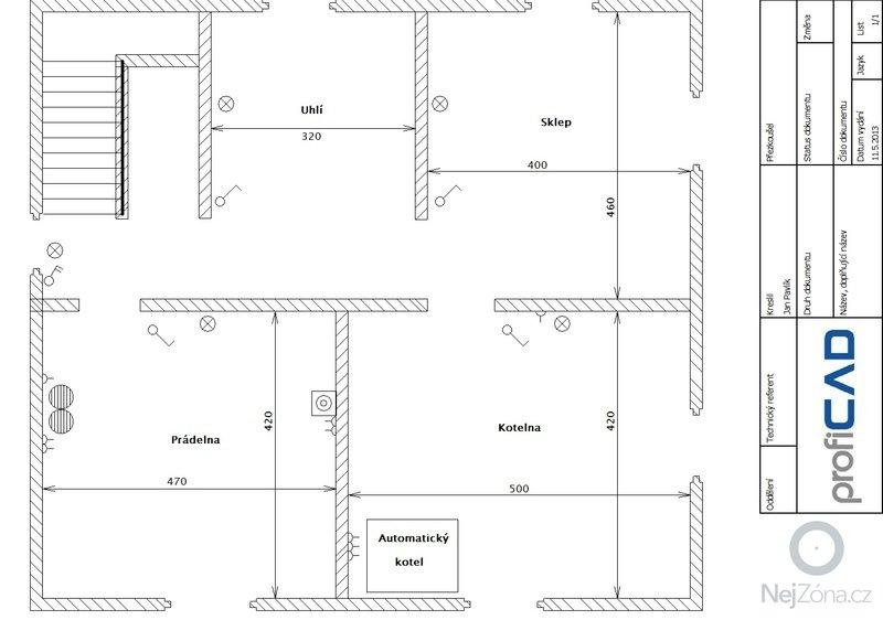 Komplet výměna elektroinstalace dvougenerační dům: sklep
