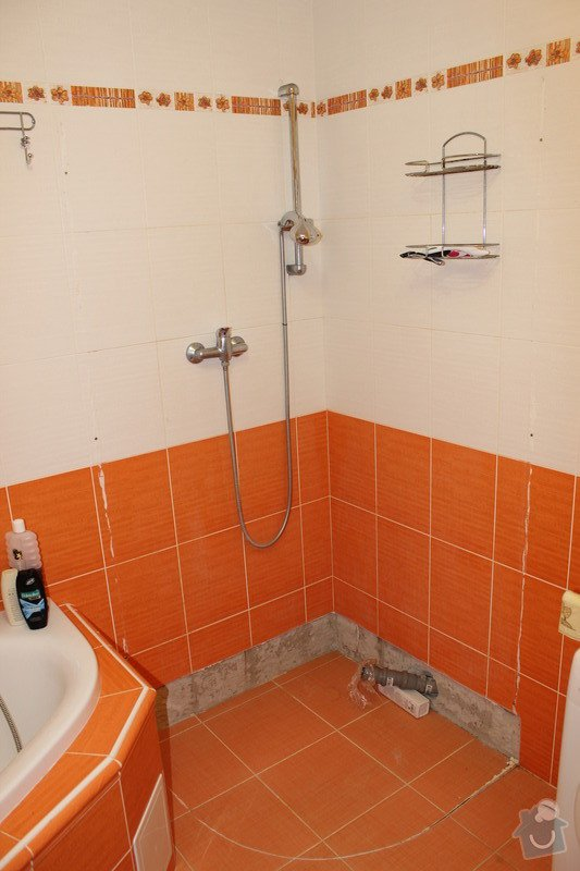 Zděný sprchový kout: IMG_4084