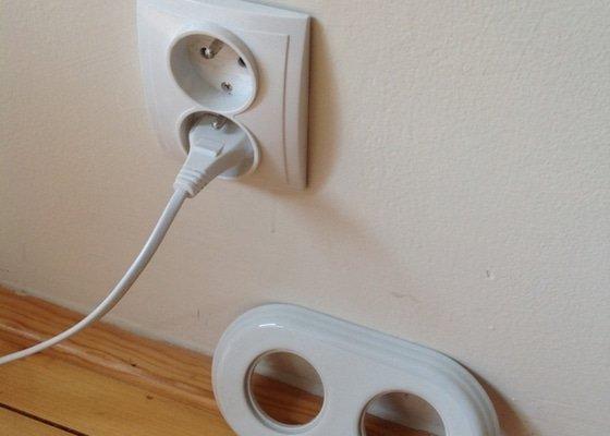 Elektroinstalační práce (výměna zásuvek a změna zásuvky na světlo)