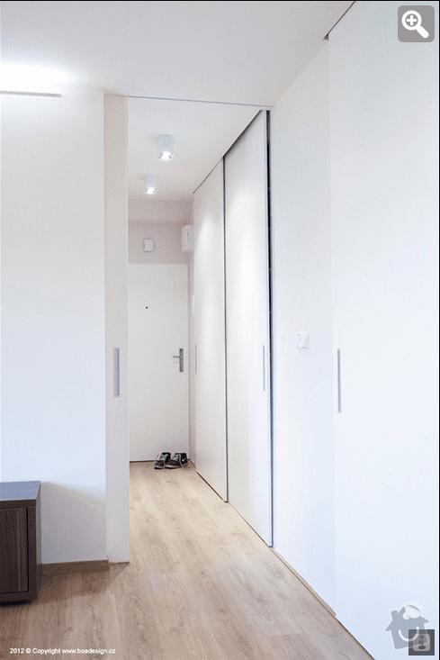 Vestavná skříň/dveře do niky: predloha