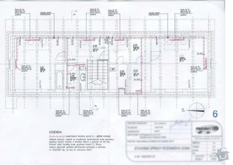 Realizace vytápění: sken016_2NP_rozvody_UT
