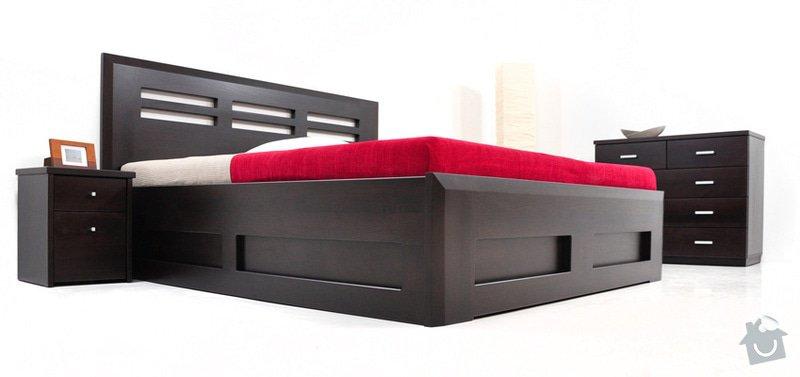 Manželská postel s výklopem z masivu: Postel3