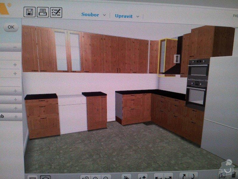 Usazení desky kuchyňské linky: vizualizace_kuchyne