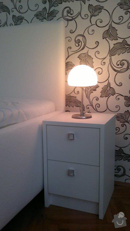 Výroba postele + nočních stolků: 07112012486