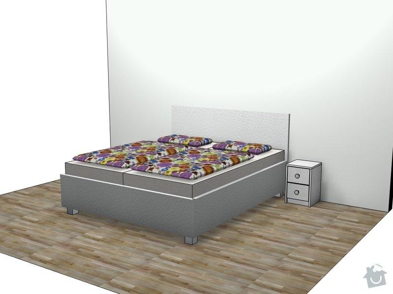 Výroba postele + nočních stolků: persp1