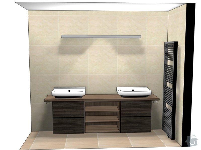 Kuchyně, vestavěné skříně, koupelnový nábytek, obývák: persp_horni_koupelna