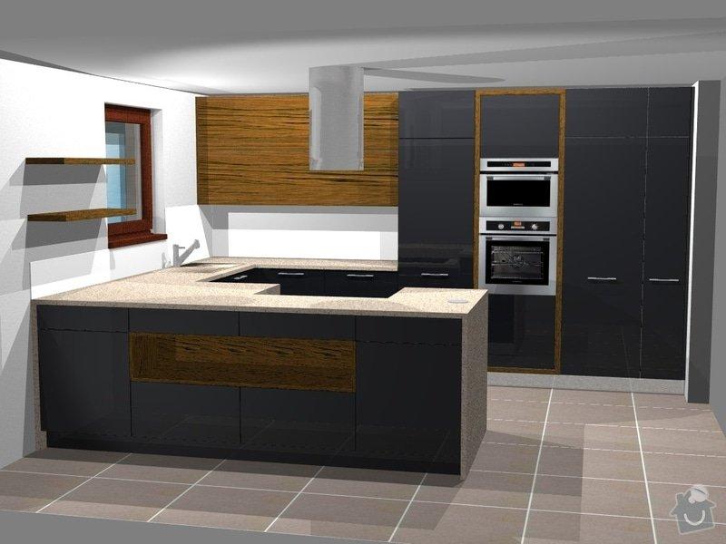 Kuchyně, vestavěné skříně, koupelnový nábytek, obývák: persp2