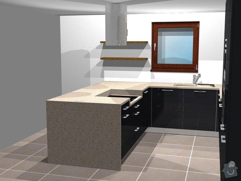 Kuchyně, vestavěné skříně, koupelnový nábytek, obývák: persp3