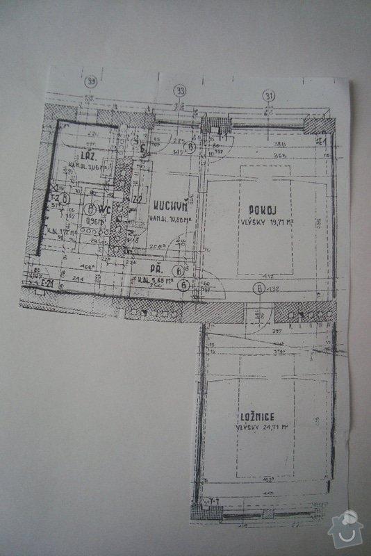 Štuky v celém bytě (62 m2, příčka, výměna 2 zárubní, výměna 3 topení, výměna obkladu v kuchyňské lince: planek_bytu