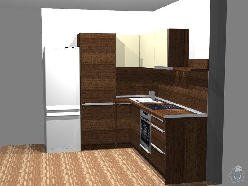 Investiční akce- Byty Popovice - kuchyně: persp1byt1L