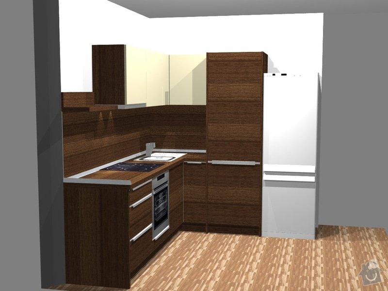 Investiční akce- Byty Popovice - kuchyně: persp1byt2P