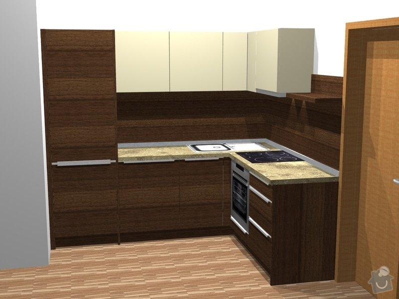 Investiční akce- Byty Popovice - kuchyně: persp1byt3L
