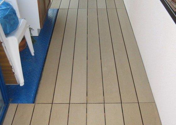 Výroba podlahy na balkon pomocí terasových prken
