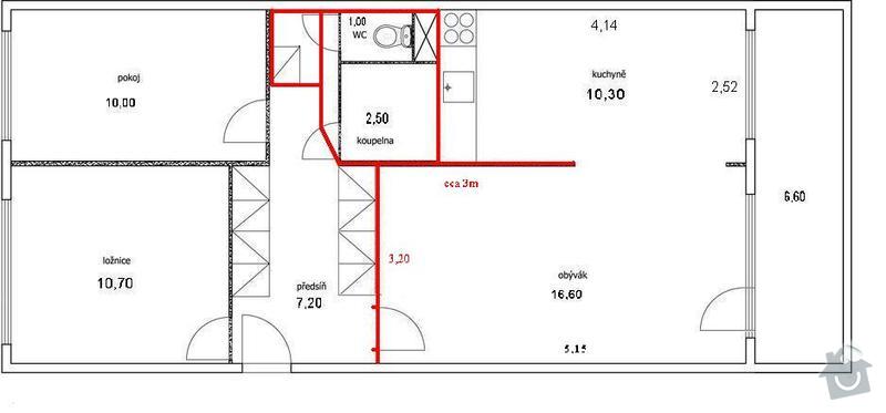 Zednicke prace, nasledne pokladka podlahy: bytn