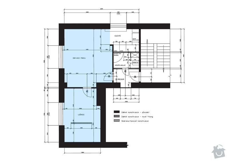 Broušení/renovace parket: schema_bytu_arch