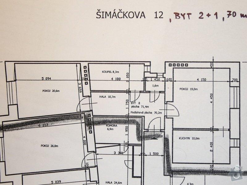 Kompletní rekonstrukce bytu v Holešovicích (2+1, 70m2): P1080317