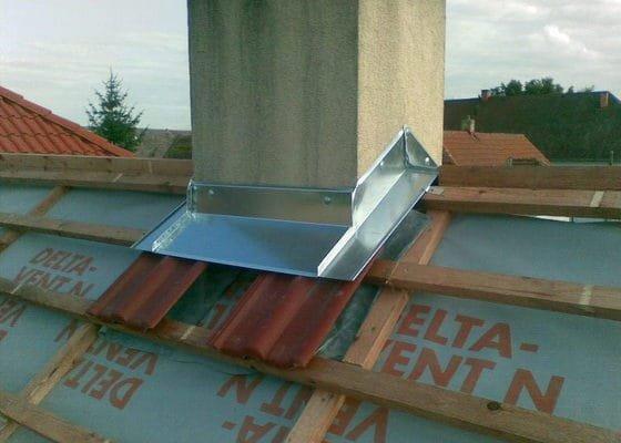 Oplechování střechy před pokládkou krytiny