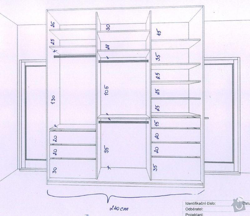 2 x skříň na míru a úložný systém do komory: chodba_in