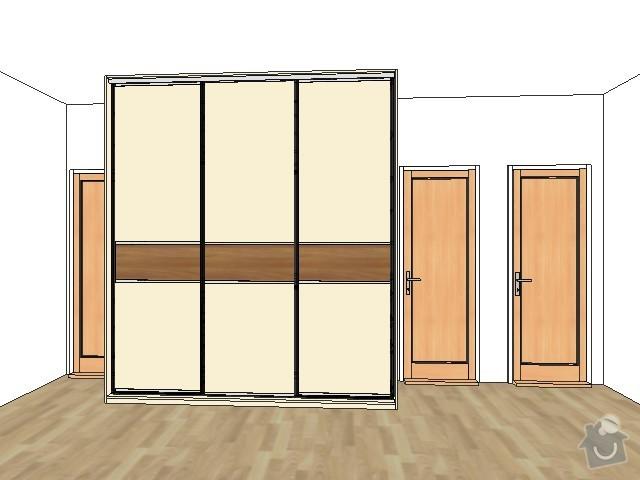 2 x skříň na míru a úložný systém do komory: chodba_out
