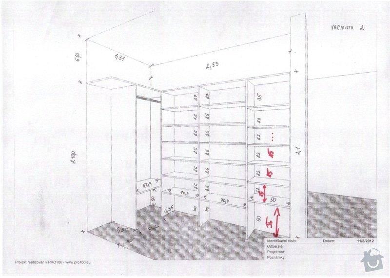 2 x skříň na míru a úložný systém do komory: komora_upravy