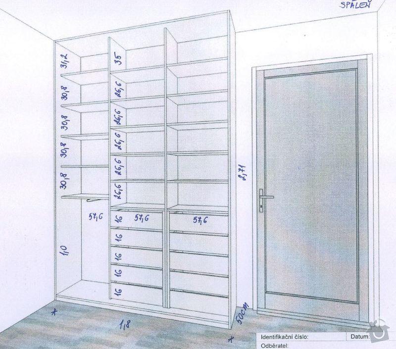2 x skříň na míru a úložný systém do komory: loznice_in