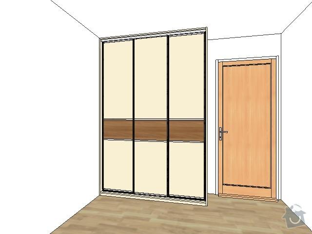 2 x skříň na míru a úložný systém do komory: loznice_out