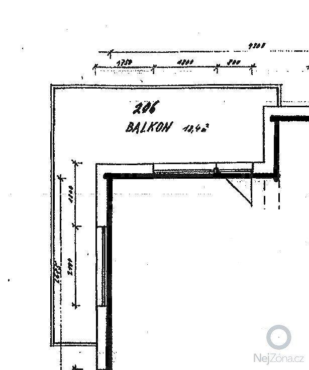 Oprava protékajícího balkonu, lodžie: Terasa_balkon_