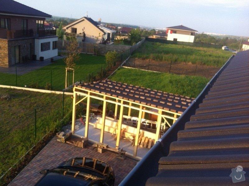 Plechy na pultové střeše.: image