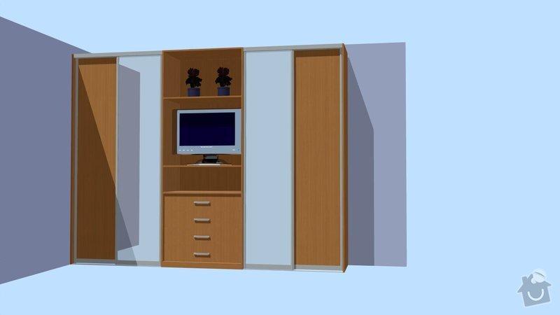 Vestavěná skříň: Poulova_3D