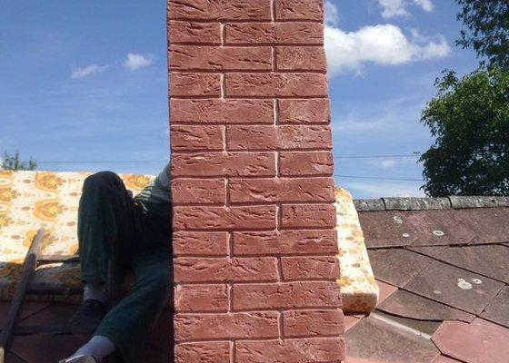 Vložkování ,oprava komína umělým kamenem