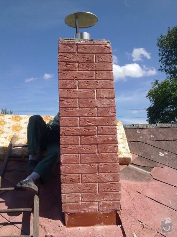 Vložkování ,oprava komína umělým kamenem: 29082011092