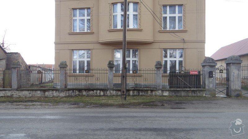 Oprava zděného plotu s železnou výplní, zámková dlažba, drobné zednické práce, spodní voda ve sklepě: DSC02936_Medium_