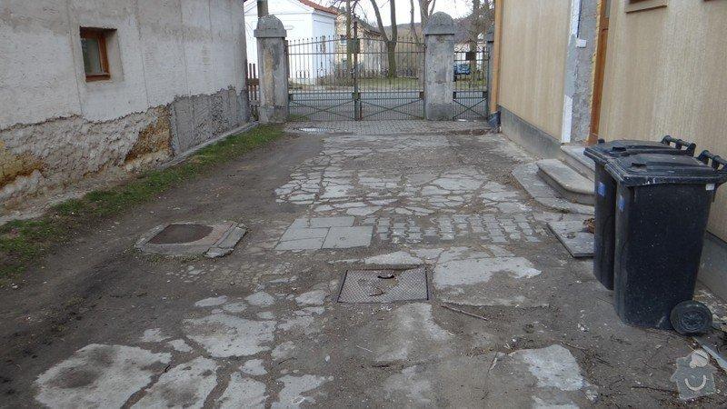 Oprava zděného plotu s železnou výplní, zámková dlažba, drobné zednické práce, spodní voda ve sklepě: DSC02941_Medium_